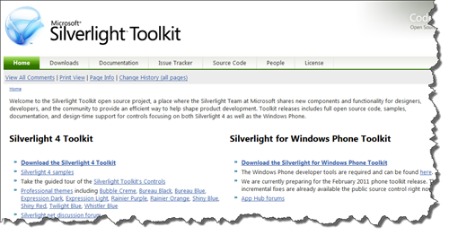 Silverlight for Windows Phone Toolkit snap